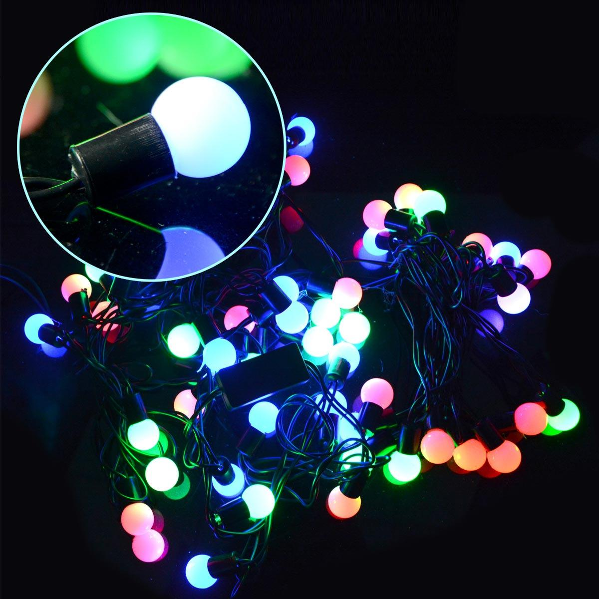 Color Changing Christmas Lights.New Christmas Lights Led Light String Color Changing 50 Led Rgb Ball 21 Feet String Christmas Fairy Xmas Light Christmas Party Decoration String Of