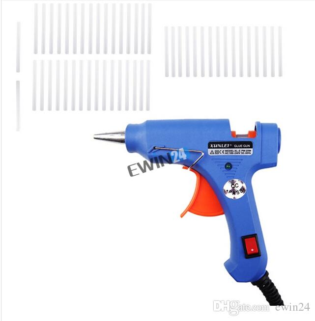 Удобный профессиональный высокая температура нагреватель горячий клей пистолет с 50 клеевые стержни трансплантат ремонт тепло Ggun пневмоинструмент 20 Вт ЕС вилка