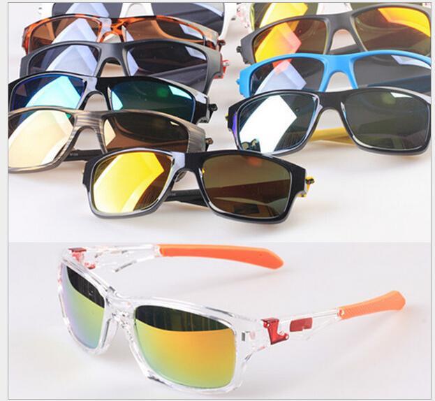 MOQ = 20 шт. Быстрые бесплатные спортивные очки велосипедные стекло 11 цветов большие солнцезащитные очки спортивные велосипедные солнцезащитные очки мода ослепляет цвет зеркал 9135