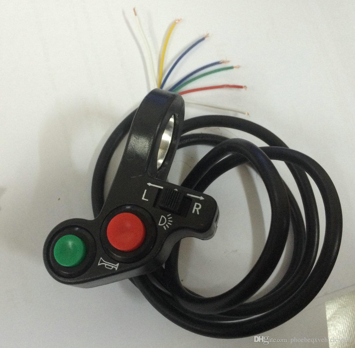 Multifunktionsschalter Drehen Signal Ein / Aus-horn + / Scheinwerferschalter kombiniert Schalter Elektroroller Teile elektrische Fahrradzubehör