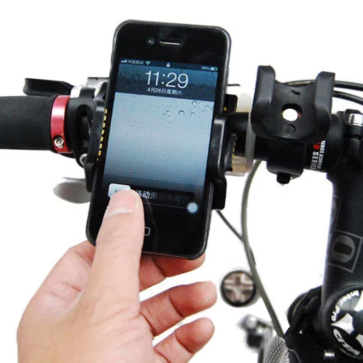 유니버설 자전거 전화 홀더 자전거 브래킷 Antiskid 자전거 전화 마운트 iPhone 삼성 GPS MP4 MP5 53mm-83mm 조절 가능 너비