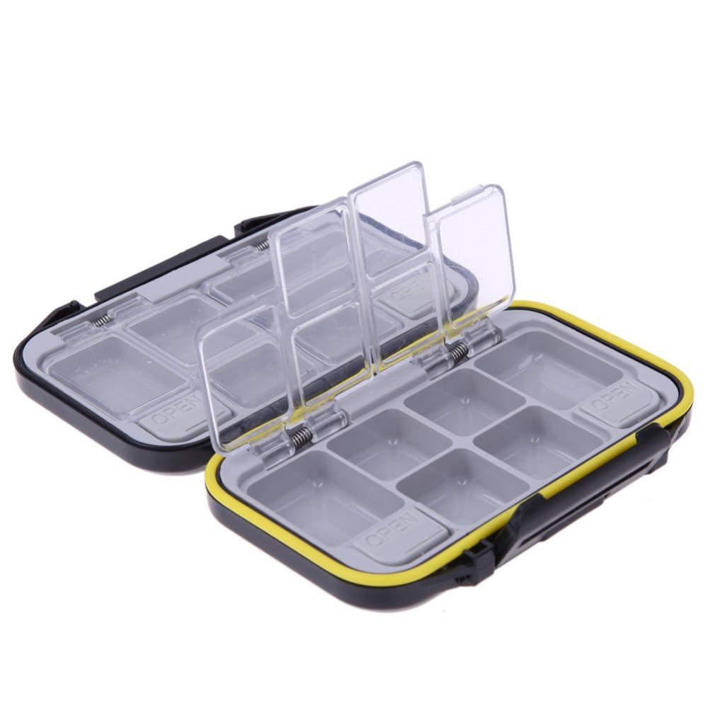 10//15 Compartiments Rangement en Plastique Container Case Appât pêche Lure Boîte
