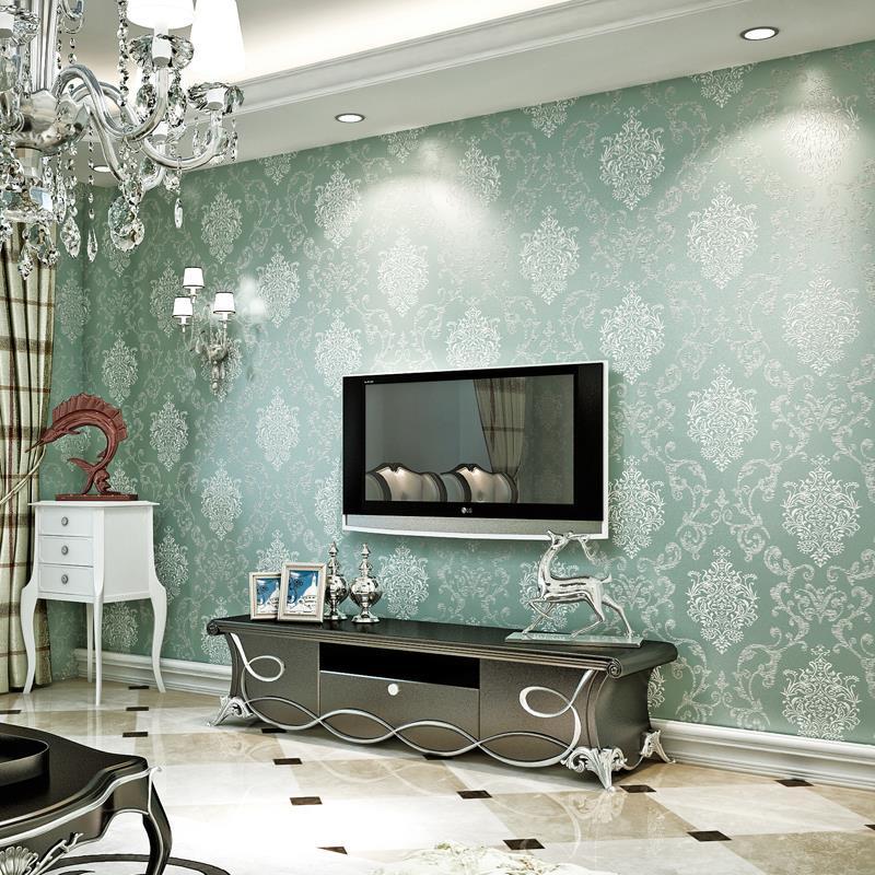 European Non Woven Wallpaper Bedroom Living Room Background 3d Sprinkle  Gold Pink Blue White Wallpaper Damascus Wallpapers Wallpaper Wallpapers  Wallpapers ...