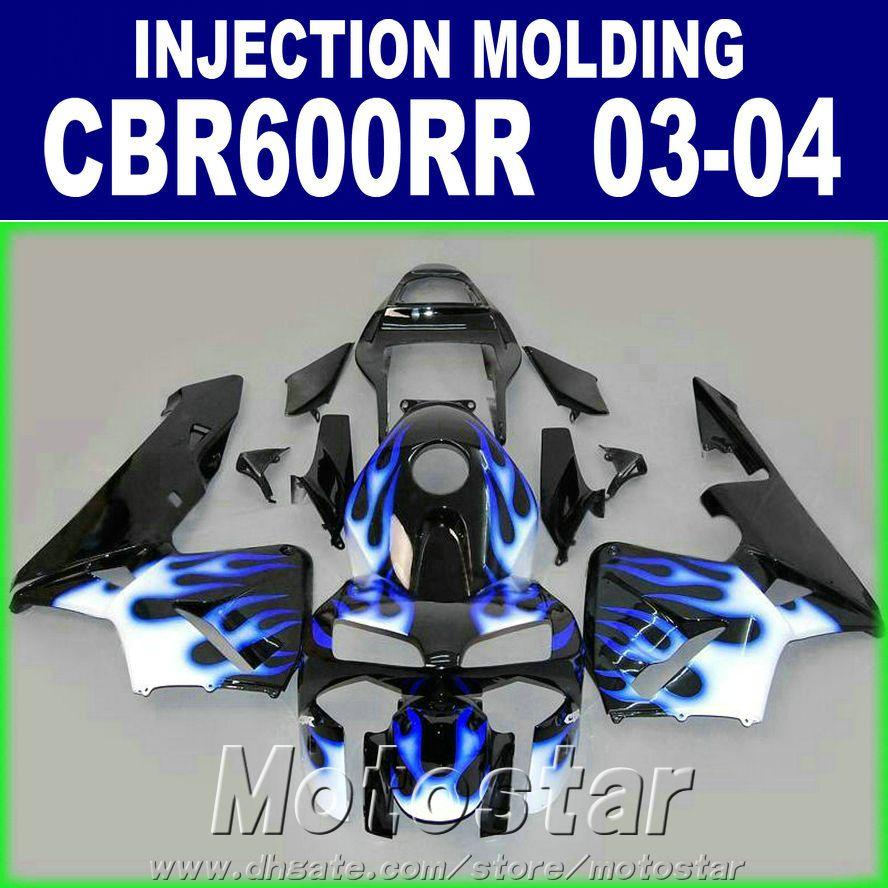 Customize Injection Mold fairings kit for HONDA CBR 600RR body repair fairing 2003 2004 bodykits 03 04 cbr600rr AHXV