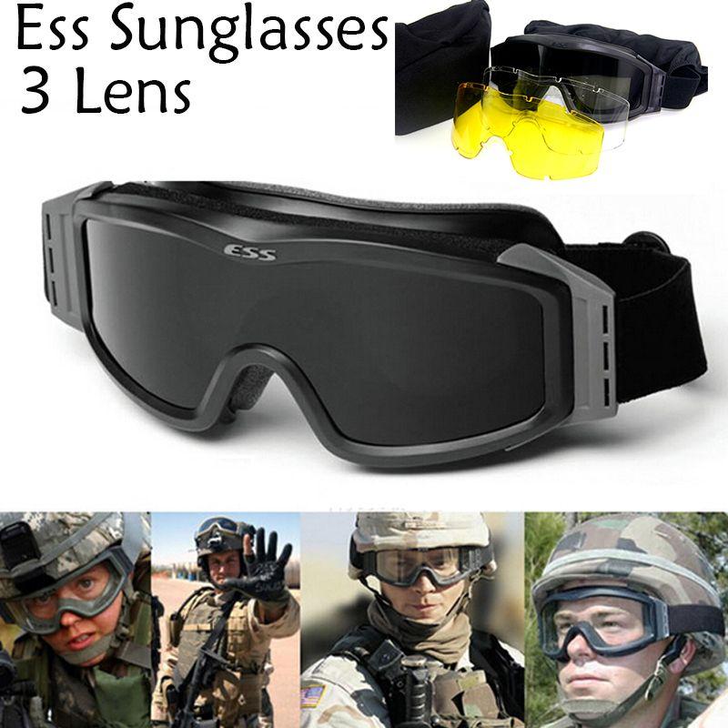 3 Lens Army Profiel NVG Glazen Tactische Goggles Bescherming Glazen voor Wargame Motocycle Gratis verzending