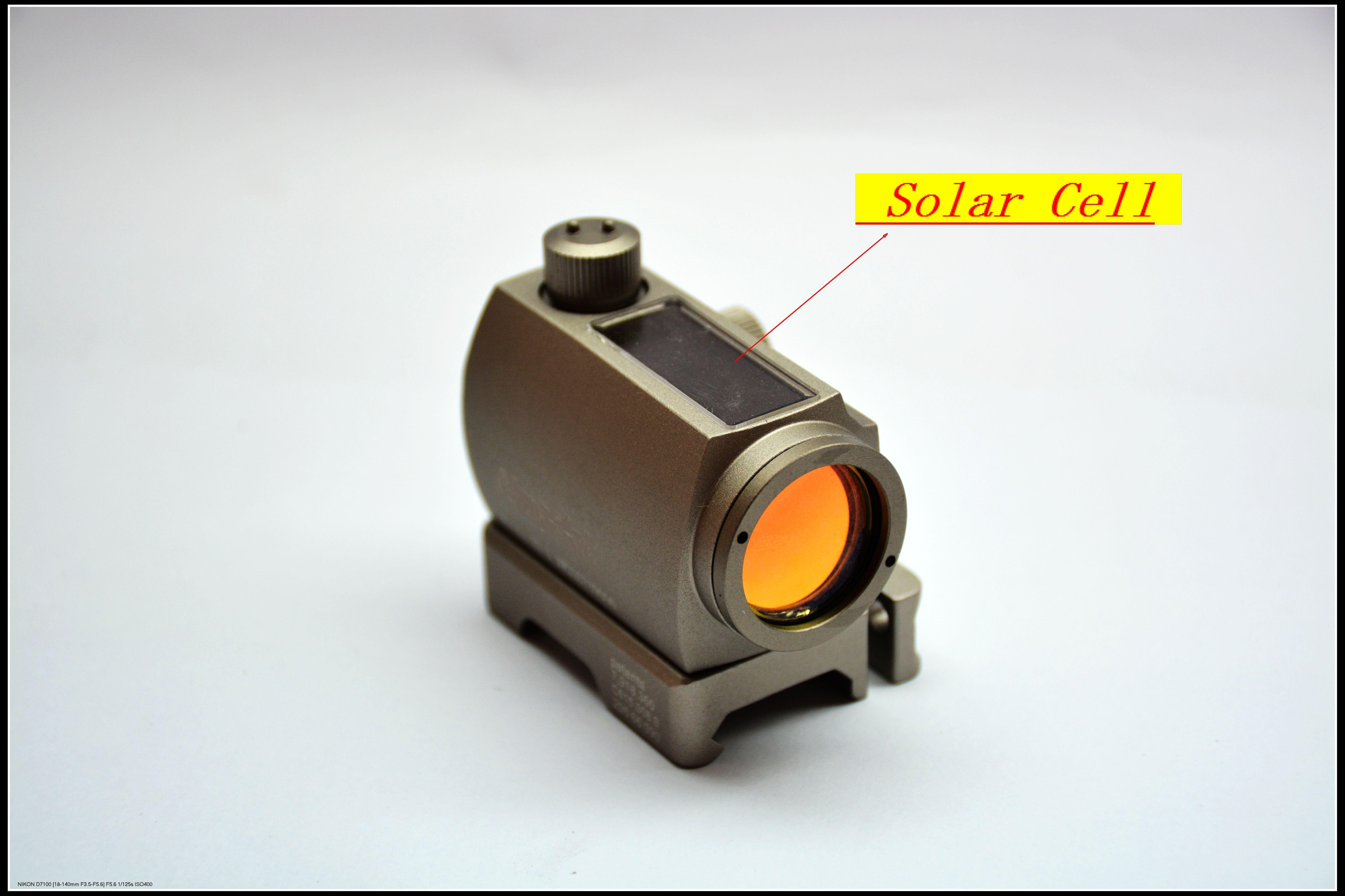 Тан голографический тактический Оптовые продажи Быстросъемные высокие низкие крепления Мощность солнечных батарей Гибридная энергия ST1 Стиль красная точка зрения подходит для любых 20 мм