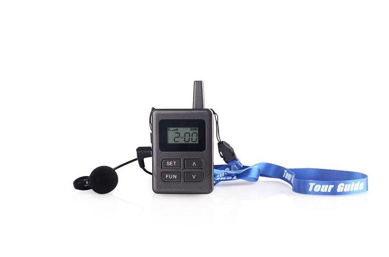 Système de transmission vocale portable avec guide touristique sans fil pour la formation à la réunion (1 émetteur UHF + 10 récepteurs)