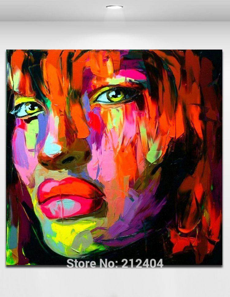 Fatal Attraction Palette Knife Girl Figure Picture 100% Hand Painted Oil Painting On Canvas Unframed Wall Art Home Decor