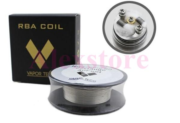 Nichrome 80 Wire heating resistance coil wick 30 Feet Spool AWG 22g 24g 26g 28g 30g 32g Gauge for rebuildable RDA RBA atomizer