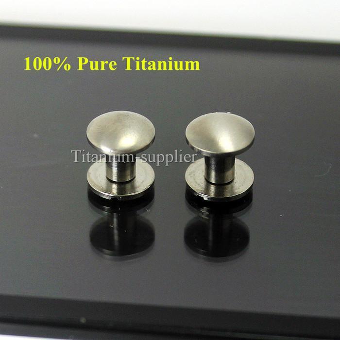 2 Sets 9mm Titanium Chicago Screw Rivets Bolt Leather Belt Screw Strap Fasteners