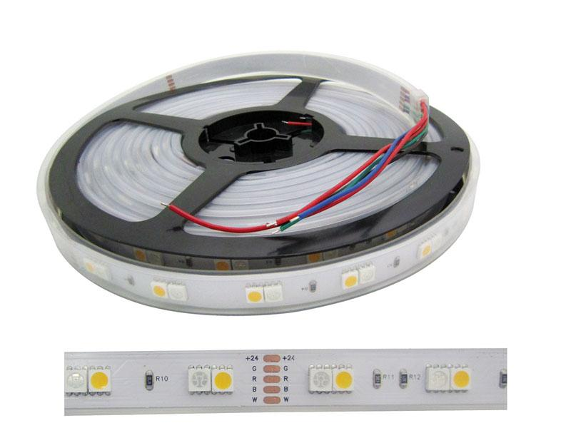 5 M 500cm 360 LEDS 5050 SMD RGB + Ciepła biała wodoodporna taśmy LED 24VDC na Boże Narodzenie
