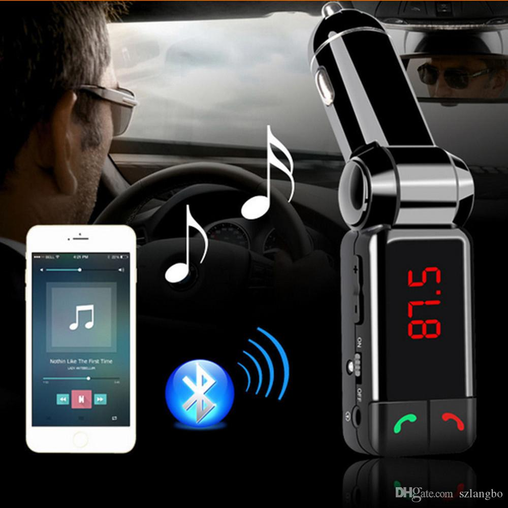 Uso Sem Fio do Veículo MP3 Player de Áudio / Transmissor FM Bluetooth / Modulador de FM Carro Kits Handsfree, com Display LCD e Carregador USB