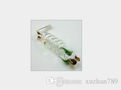 Accesorios de tubería de agua de envío gratis accesorios de tubería de agua de vidrio 5 bandas y olla larga (20 / lote)
