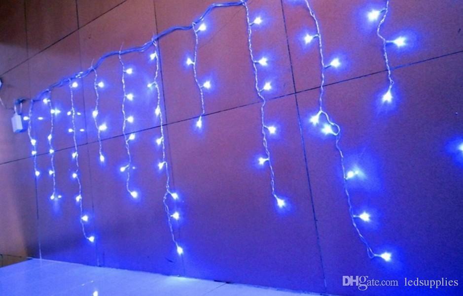 Рождественские украшения 3.5 м свисают 0.3-0.5 м занавес сосулька строка светодиодные фонари для открытый Новый год сад Рождество свадьба AC.110V-250V