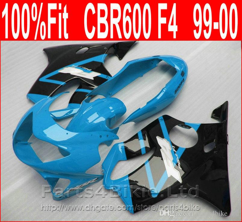 Perfect Fitment Body parts for Honda CBR 600 F4 custom fairings 1999 2000 CBR600 F4 99 00 blue fairing kit FXIU