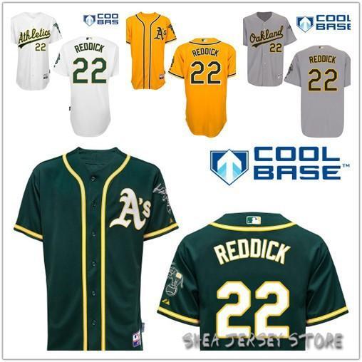 ... 2015 Oakland Athletics 22 Josh Reddick Jersey White Grey Yellow green  Home Alternate Cool Base Baseball Josh Reddick 16 ... 82b062b2f