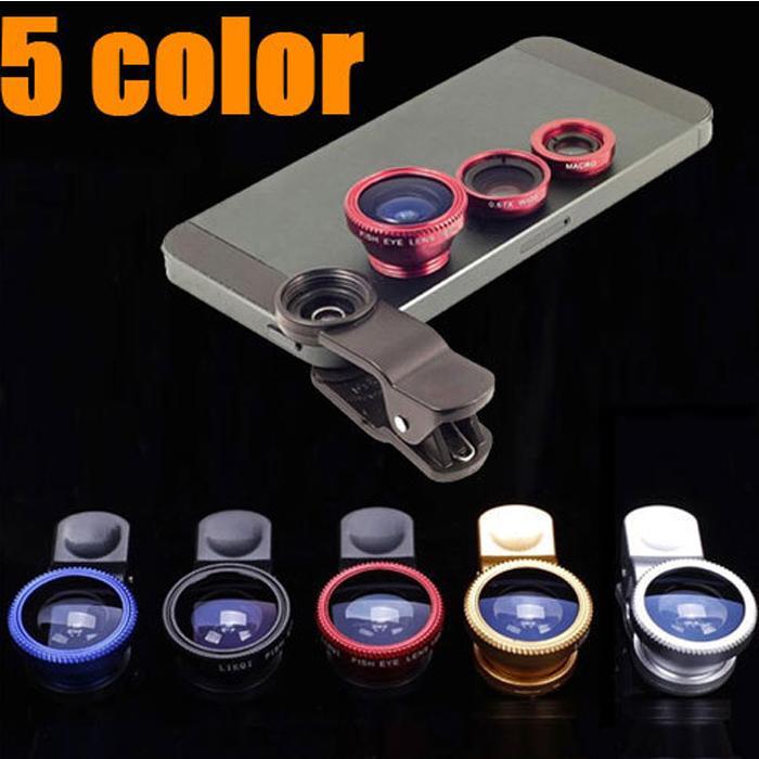 3 в 1 клип объектив 180 градусов Рыбий глаз + Широкий угол + Макро линзы камеры Fisheye объектив для iPhone Samsung HTC Nokia