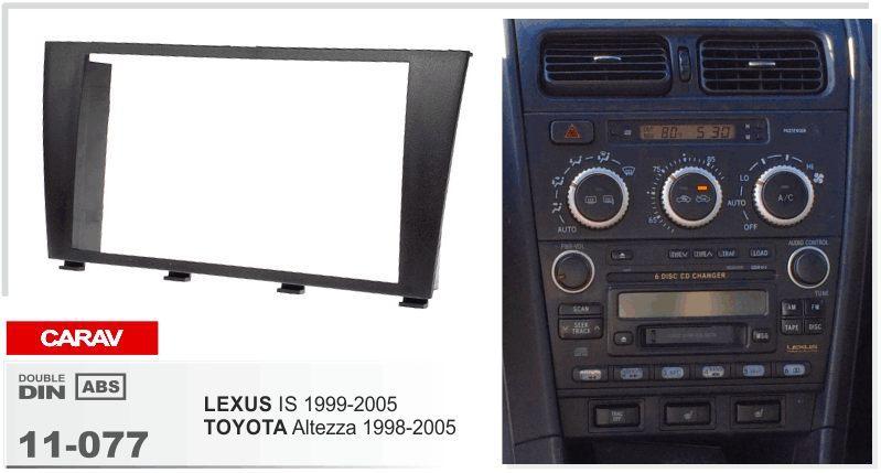 CAREX 11-077 CAR 라디오 설치 대시 마운트 키트 LEXUS IS 1999-2005 / TOYOTA Altezza 1998-2005 2-DIN 용 스테레오 설치