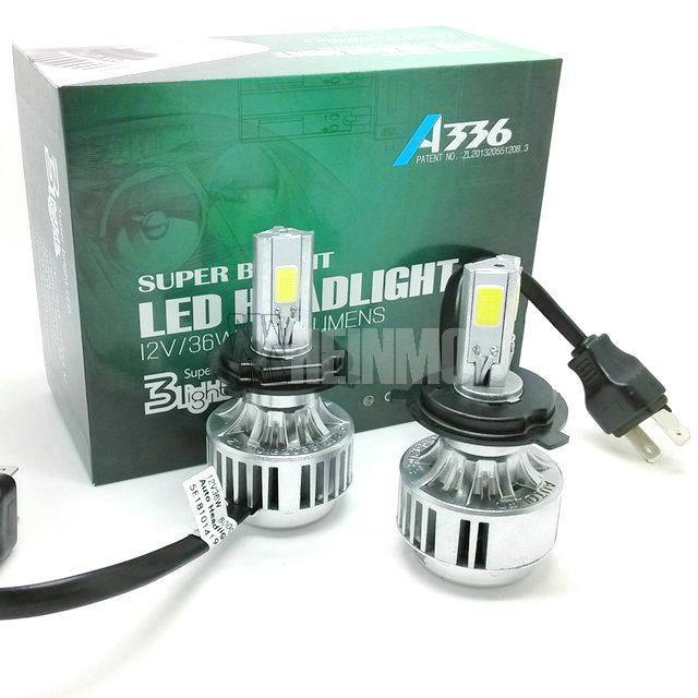 36W 3300LM H4 السيارات LED المصابيح الأمامية مل 3pcs COB السيارات LED العلوي، سيارة H13 LED لمبات المصباح، 9007 LED رئيس ضوء لمبات مرحبا / لي عدة شعاع 9004