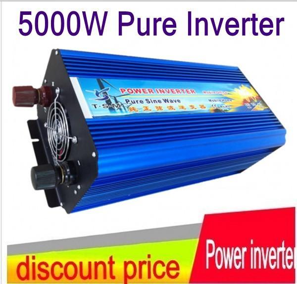 Hot Sale !! 5000W 5KW Pure Sine Wave Power Off Grid Inverter, Peak 10000W Solar / Wind Inverter 12V / 24V / 48V DC-invoer