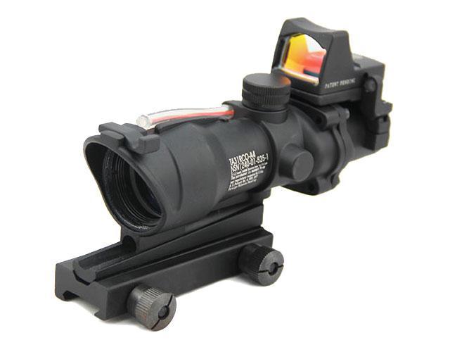 Zakres karabin ACOG 4x32 z RMR Micro Red Dot Black (R)