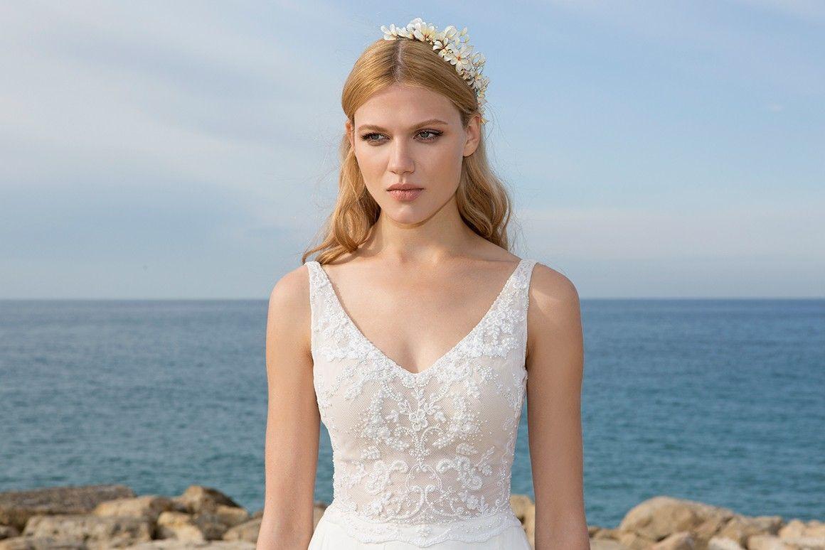 Discount Hila Gaon Chiffon Beach Wedding Dresses Backless V Neck A ...