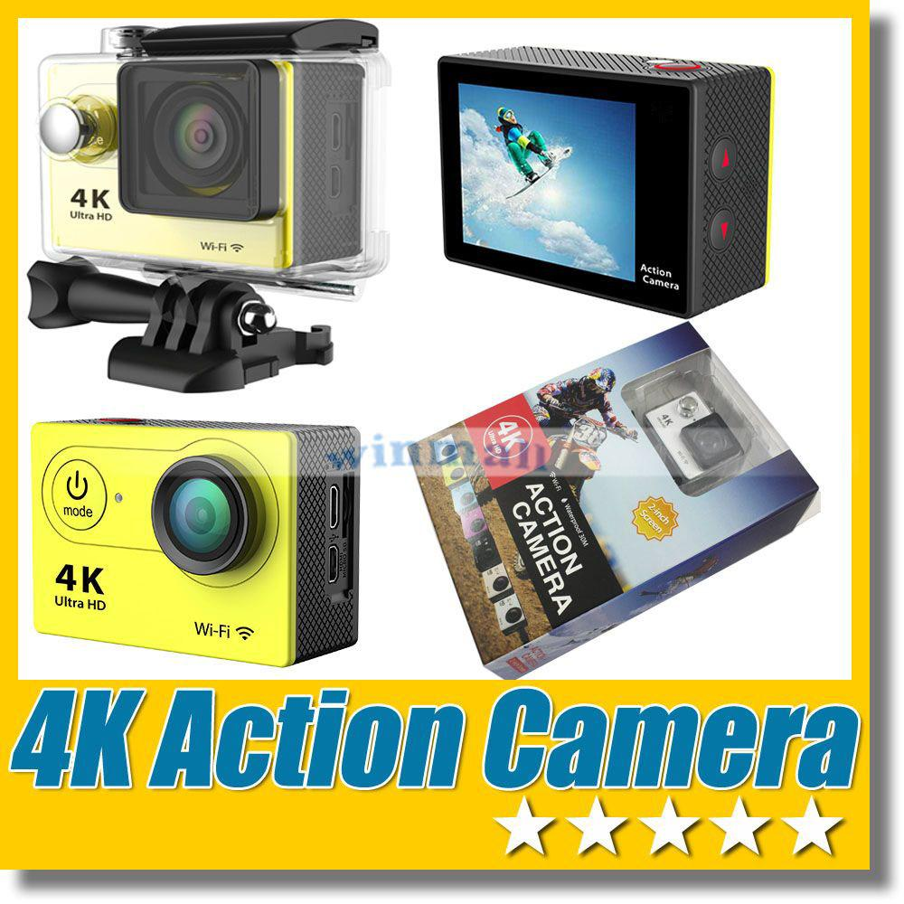 "4K Ultra HD Sport DV WiFi Remote Control Sport Action Camera 2"" TFT LCD 1080P 30M Waterproof"