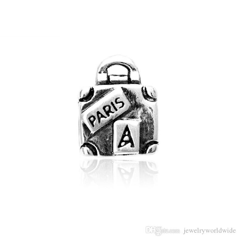 Sostituzione della lega di fascino di fascino della spesa del sacchetto della spesa di modo di modo dei monili delle donne di modo Stunning Design Stile europeo per la collana del braccialetto fai da te Panza003-17