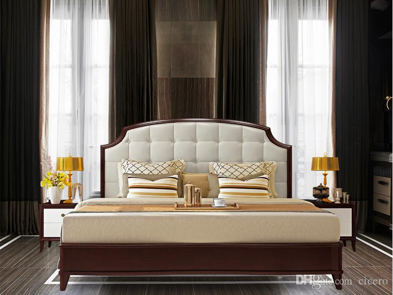 2019 American Style Bed Cherry Wood King Size Modern Bed Bedroom Furniture  From Cicero, $13065.33 | DHgate.Com