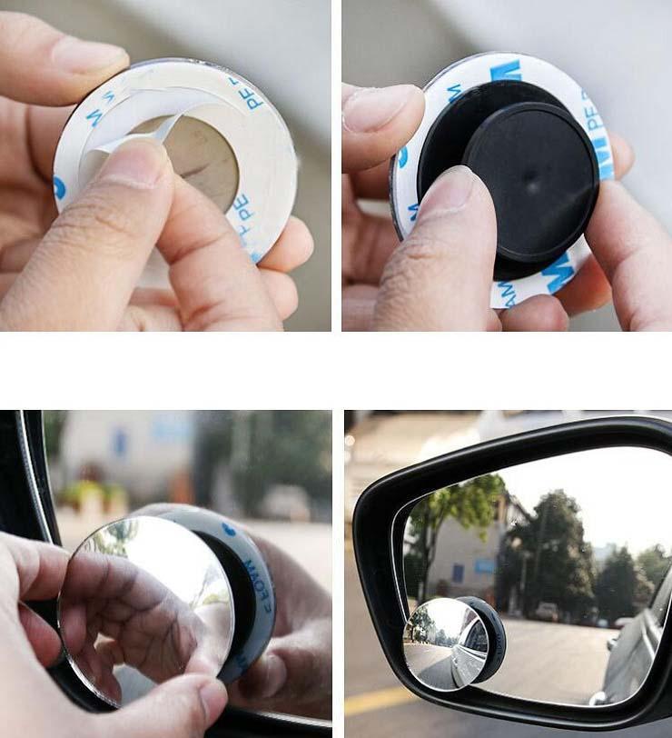 2 teile / los 360 Grad Auto Spiegel Weitwinkel Runde konvexer Blind Spiegel Spiegel Für Parken Rückansicht Spiegel Regen Schatten