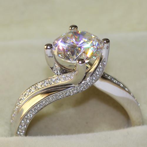 4MM التي لا نهاية لها الجمال 2 اختبار تقريبا مختبر إيجابي مكون الماس الاصطناعية خاتم الخطوبة هدية عيد الحب