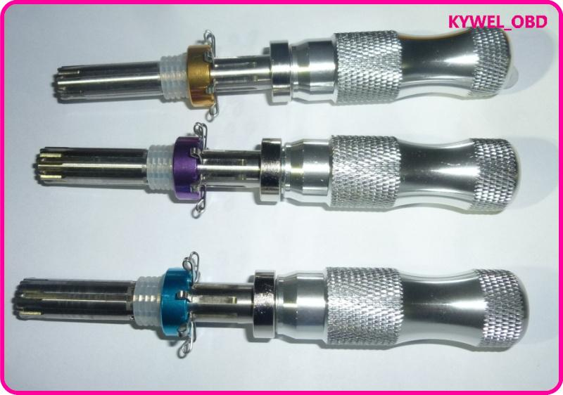 Sıcak satış 3 adet / takım 7pin ((7.0mm, 7.5mm, 7.8mm) gelişmiş tübüler pick set, Asma Kilit Aracı Çapraz Seçim, Tübüler Pick aracı ücretsiz kargo