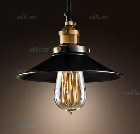 Lámpara colgante RH LOFT2 Lámparas colgantes American Country style lighting Vintage METAL FILAMENT PENDANT AGED STEEL edison chandelier