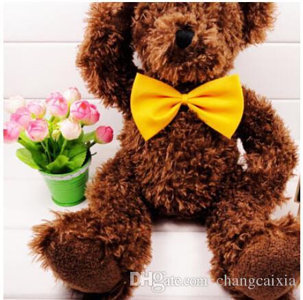 (500 Parçalar / Lot) Yüksek Kalite Marka Moda Karışık Renk Köpek Pet Kedi Boyun Kravatlar Başkanı Çiçek