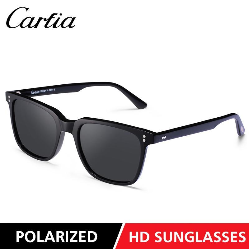 Carfia nuovi 5354 mens occhiali da sole rettangolo di guida polarizzati occhiali da sole occhiali da sole per le donne 51mm 3 colori con la scatola originale