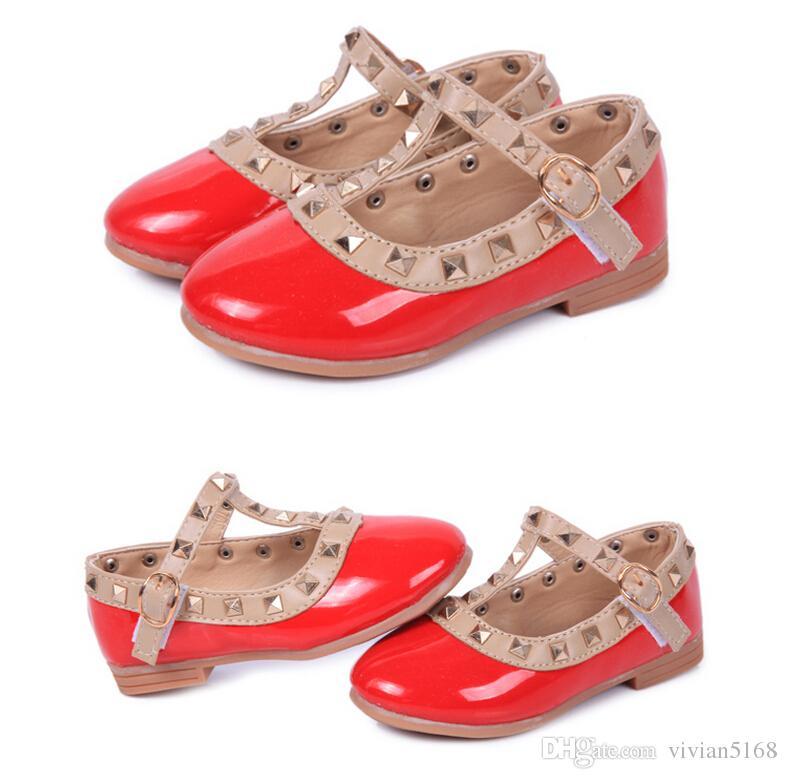 Freisandalen Niet Kinder Jahre Kinder Baby Mädchen Sommer 2021 Schuhleder Schuhe 2-12 Ende Prinzessin Kinder Schuhe 4 Farben Sehnen Sehnen Shipp Etot