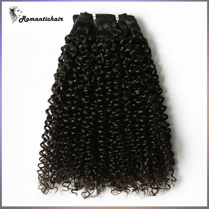 100%Девственные Бразильские Волосы Малайзийский Перуанский Монгольский Камбоджийский Индийский Необработанные Джерри Вьющиеся Бразильские Пучки Волос Лучший Человеческих Волос Ткать