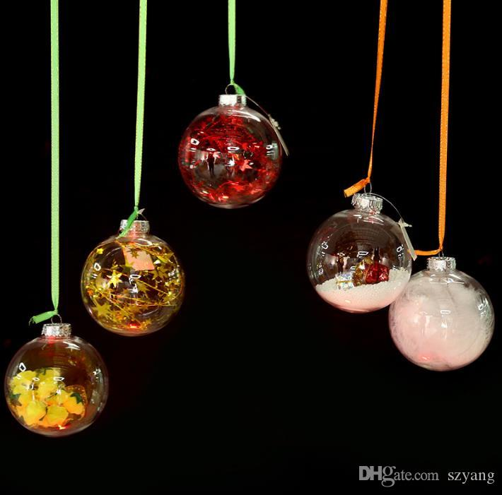 Factory Balls Christmas.Transparent Glass Balls Christmas Tree Ornaments Pendant Decor Wedding Clear Ball Party Valentine S Decorations Diy By Yourself Pictures Of Christmas