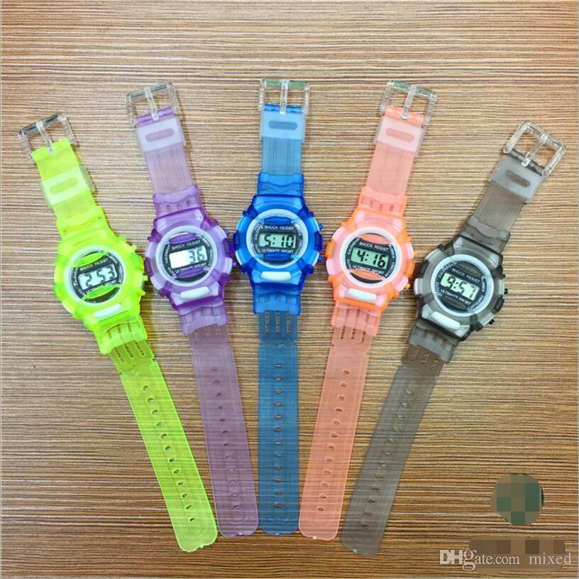 Silicone Watch Sport Kids Watches Boys Girls Students Time Clock Electronic Digital LCD Digital-watch Gift