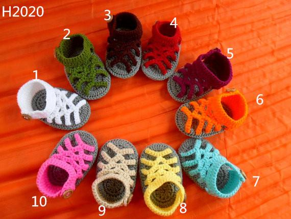 crochet baby handmake yarn sandals y flip flop , 10colors baby slipper baby booties 0-12M customize