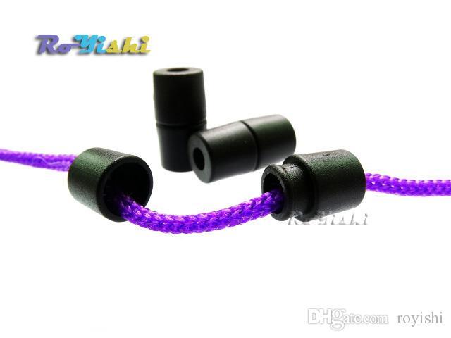 100 unids / lote Negro Lanyard Safety Breakaway Pop Barril Conectores Paracord Ribbon Lanyards Plástico Hebillas