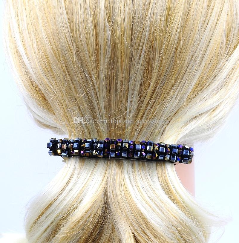 Women Crystal Barrette Handmade Hair Clip New Fashion High Quality Hairgrip Hair Accessories for Wholesale Free Shipping