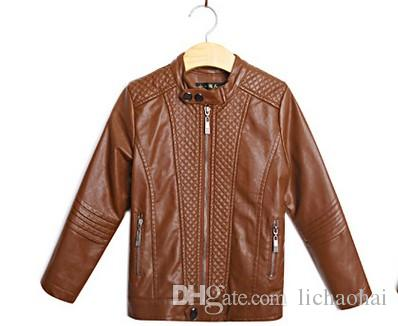 Winter Clothing Children Leather Jacket Korean Tide Product Boys ...