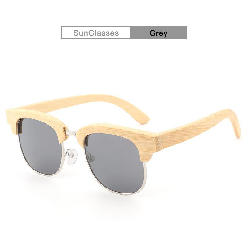 Gafas de sol de los vidrios de Sun del deporte de la moda 2017 para los hombres Gafas de sol de madera de bambú al por mayor con los casos