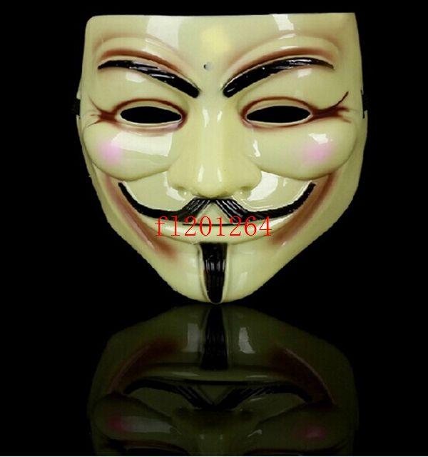 500pcs/lot Free Shipping For V vendetta team guy fawkes masquerade Halloween carnival Mask Party Masks V01