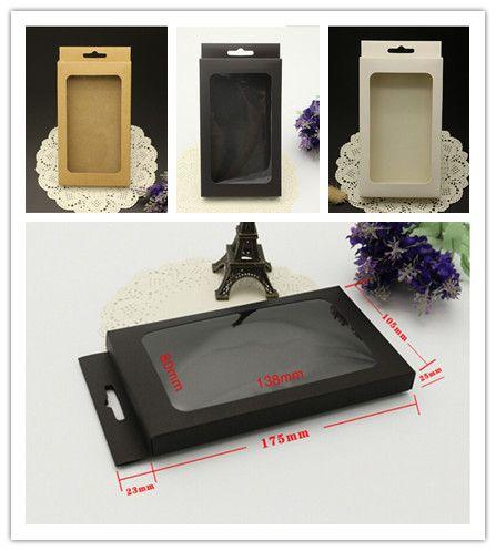 電話ケースiPhone 12 Mini 11 Pro X XS MAX XRのためのインサートが付いているユニバーサルレトロブラウン紙小売パッケージボックスボックス