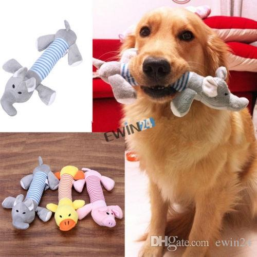 Brand New Puppy Chew Squeaker Squeaky Plush Sound Pig Elephant Duck For Dog Sound Toys 10pcs