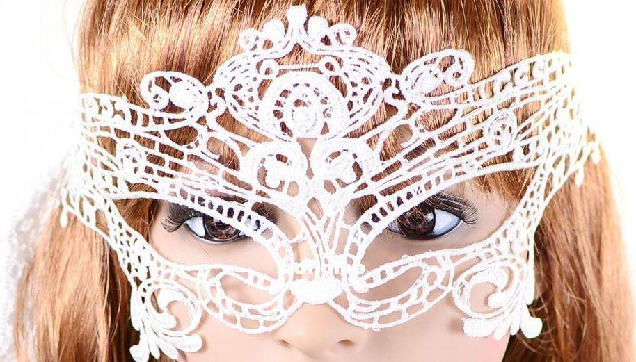 Min. order $10mix itemsYZ5001 openwork lace mask on half face veil mysterious fashion sexy party prom hollow mask goggles