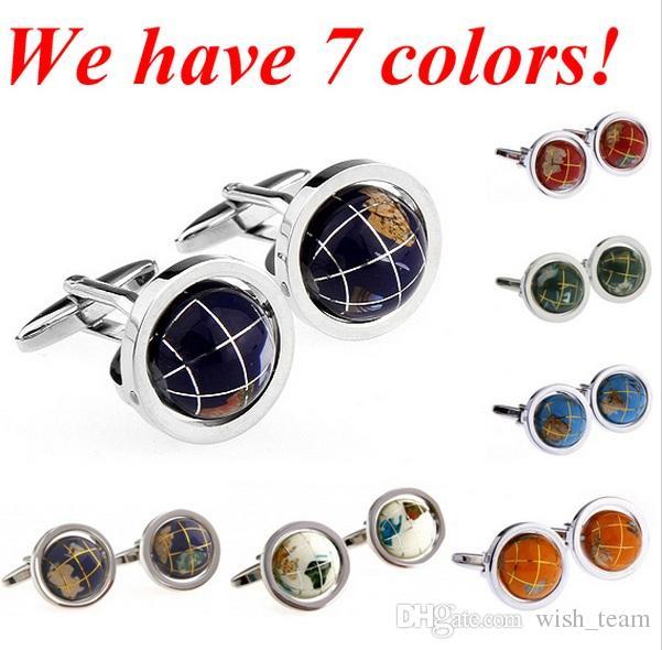 Globo de alta calidad del globo del manguito coloridas mancuernas de la tierra 3D Gemelos de cobre MOQ 100pcs == 50 pares de 7 colores libres de DHL / FEDEX wish_team
