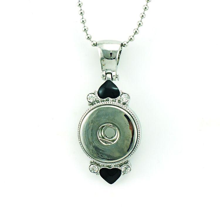 Мода подвески ожерелья 18 мм Оснастки кнопки ретро горный хрусталь круг Бесконечности цепи металла взаимозаменяемые заявление ожерелья ювелирные изделия